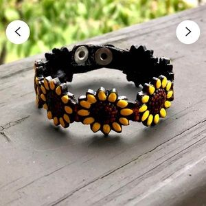 Leather sunflower 🌻 bracelets